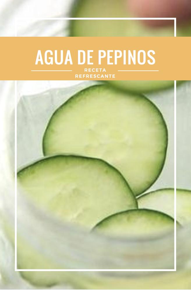 Agua de pepino antioxidante / remedio casero adelgazar