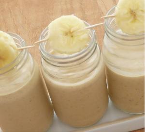 licuado de avena y banana