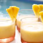 Licuado de Mango y Piña congelado sin hielo. Bebida Natural