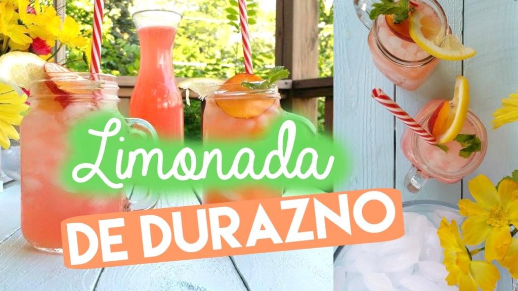 limonada de durazno verano - receta refrescante te de durazno by Alicia Borchardt