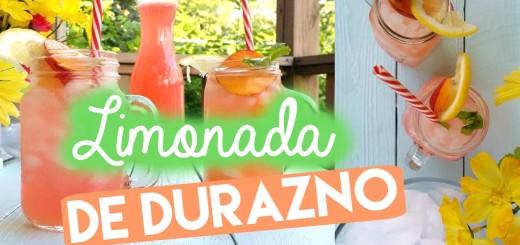 limonada de durazno verano