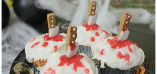cupcakes de vainilla halloween