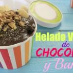 Helado Vegano de Chocolate y Banana.