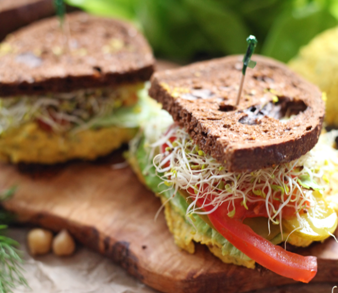 sandwich de garbanzo