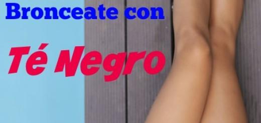 DIY bronceador natural casero con te negro