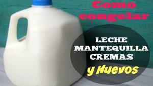 como congelar leche mantequilla y huevos