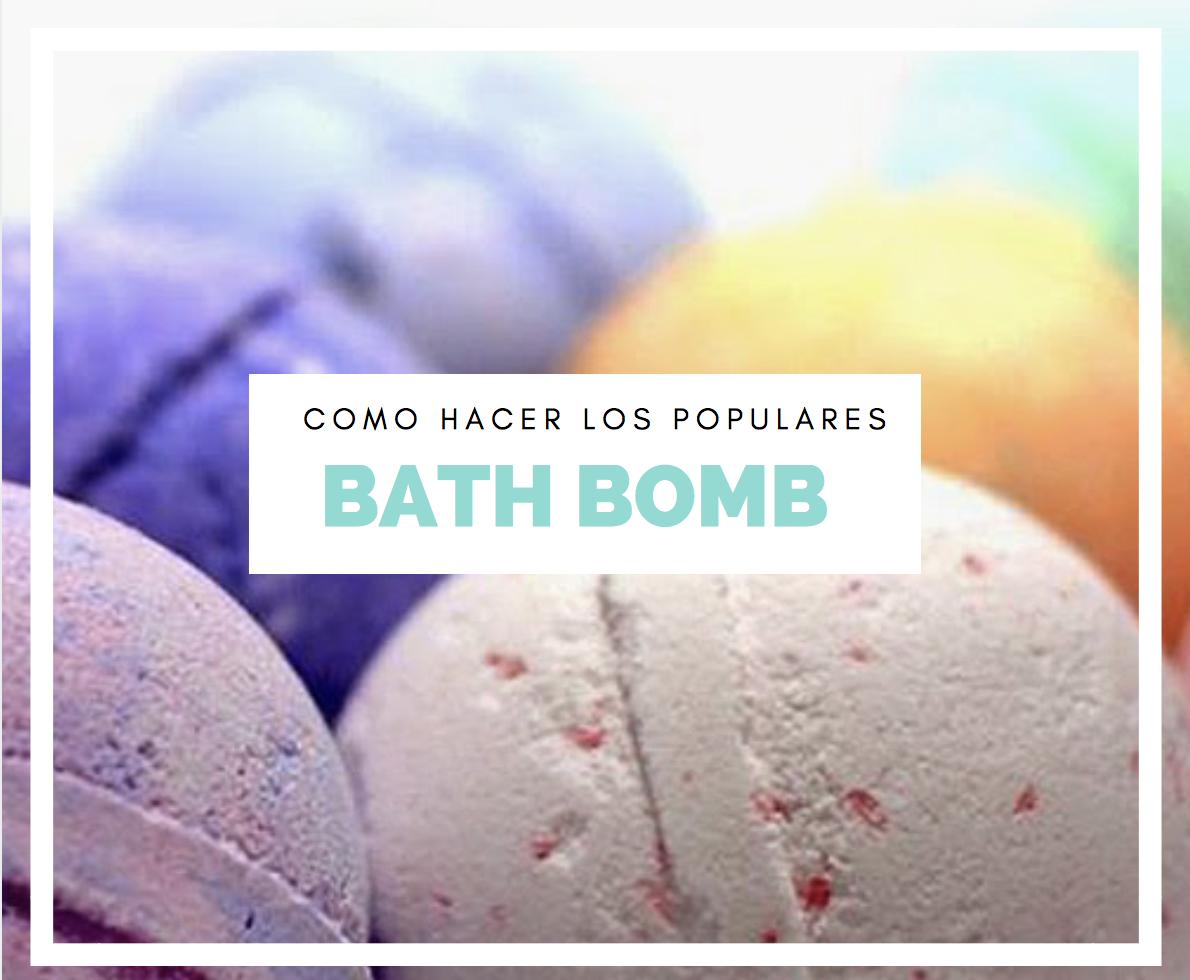 como hacer bath bomb caseros