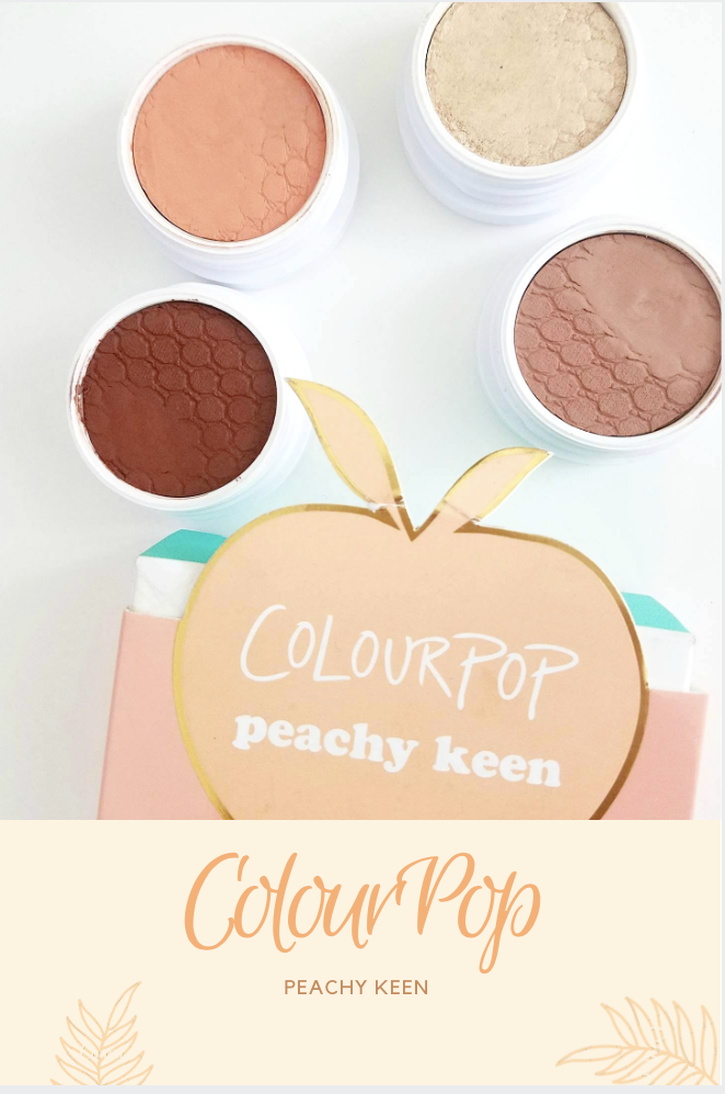 Colourpop peachy keen review and swatches blog