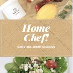 Lemon Dill Shrimp Couscous. Home Chef