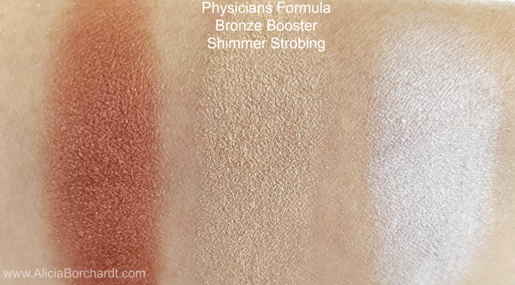 physicians formula bronze booster shimmer strobing swatches blog