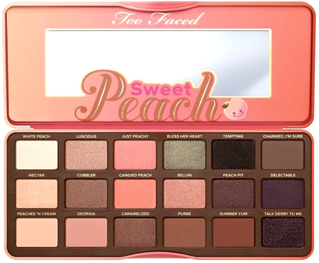 too faced sweet peach reseña y swatches blog español