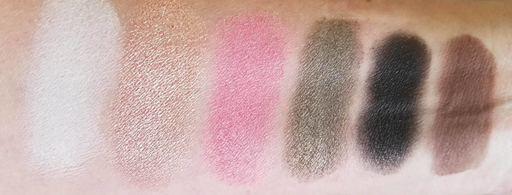 too faced sweet peach swatches