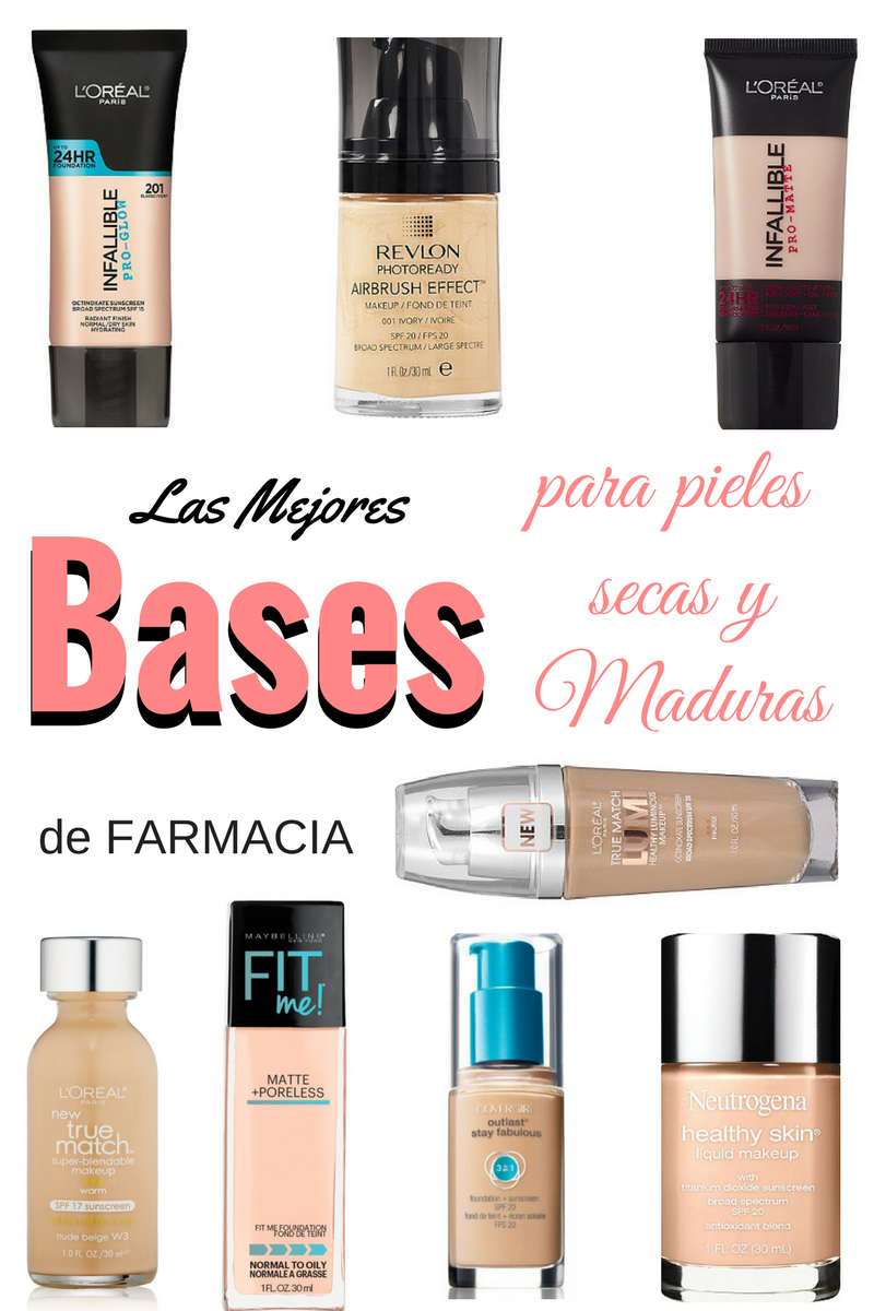 Las MejoreS BASES de farmacia pieles secas y MADURAS by Alicia Borchardt