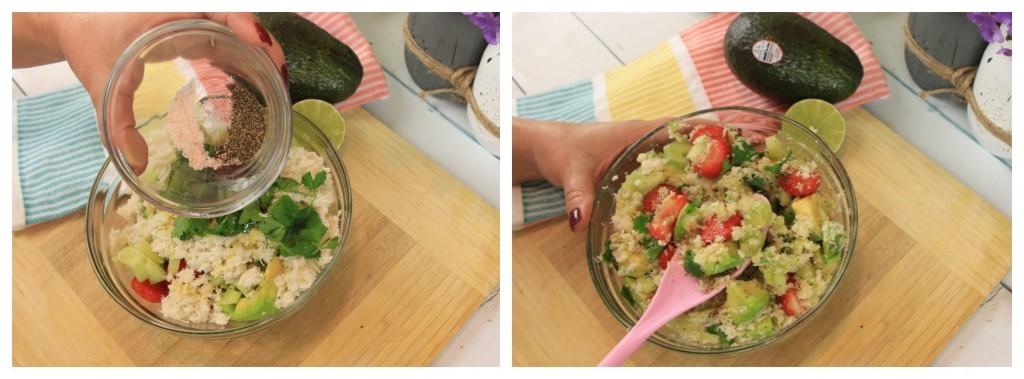 Ensalada- saludable - de cangrejo - fresas - aguacate