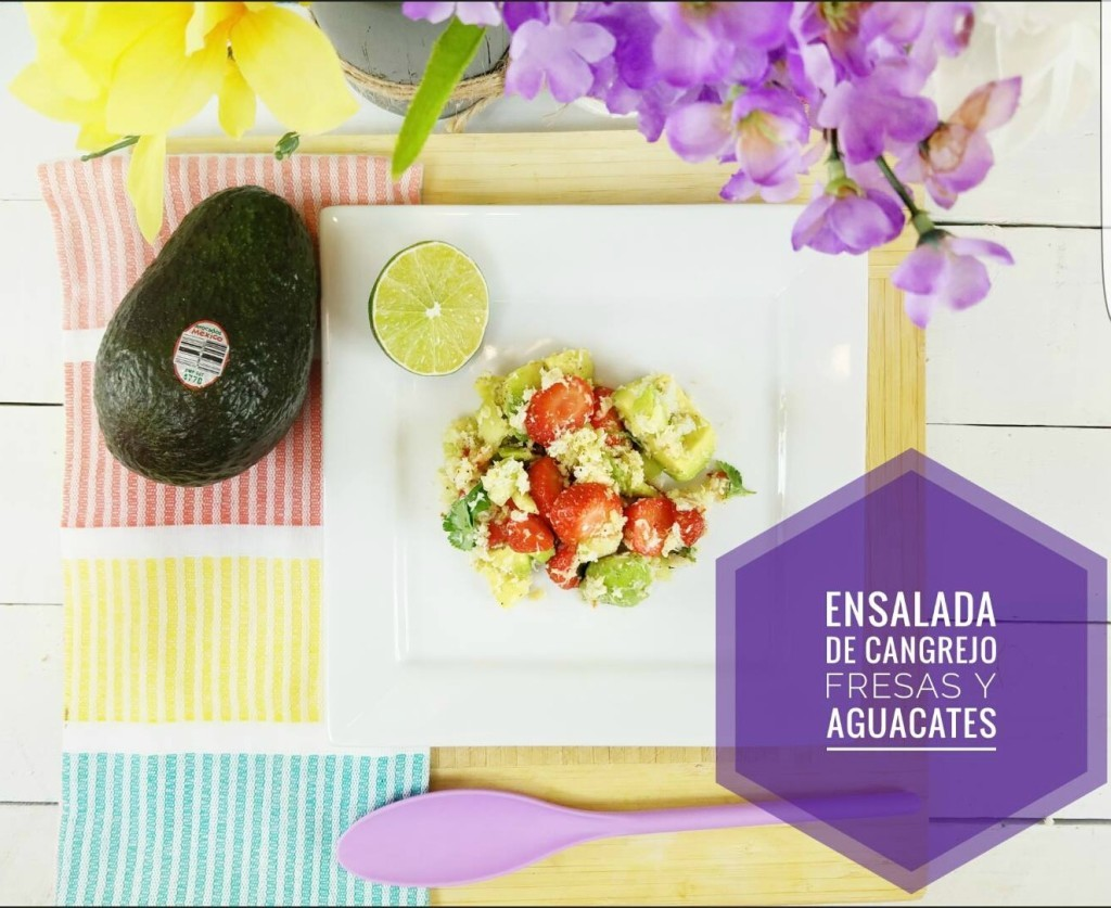 Ensalada de- Cangrejo- con fresas - aguacate