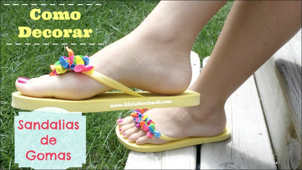 Como decorar sandalias de gomas playeras by aliciaborchardt