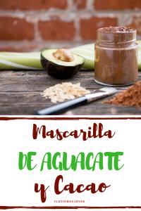 mascarilla casera natural - de aguacate y cacao - para una piel sana y juvenil - anti envejecimiento by Alicia Borchardt