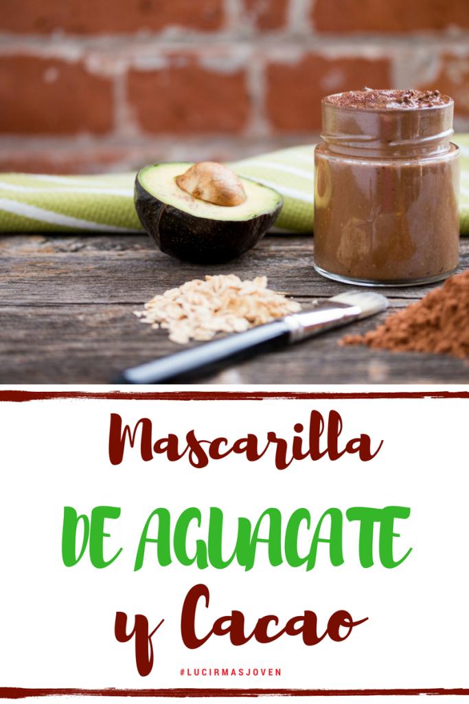 mascarilla casera natural - de aguacate y cacao - para una piel sana y juvenil - anti envejecimiento - remedios caseros by Alicia Borchardt