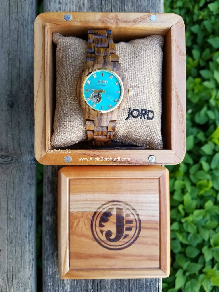 JORD WOOD WATCHES CORAL SERIE ZEBRAWOOD HANDMADE