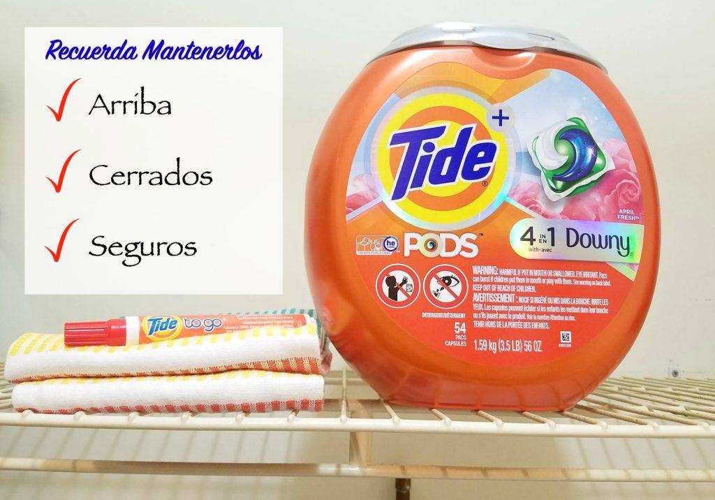 Tide Pods cerrado arriba seguro blog alicia