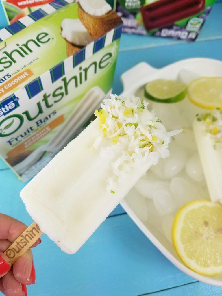 outshine fruit bars real fruit creamy coconut