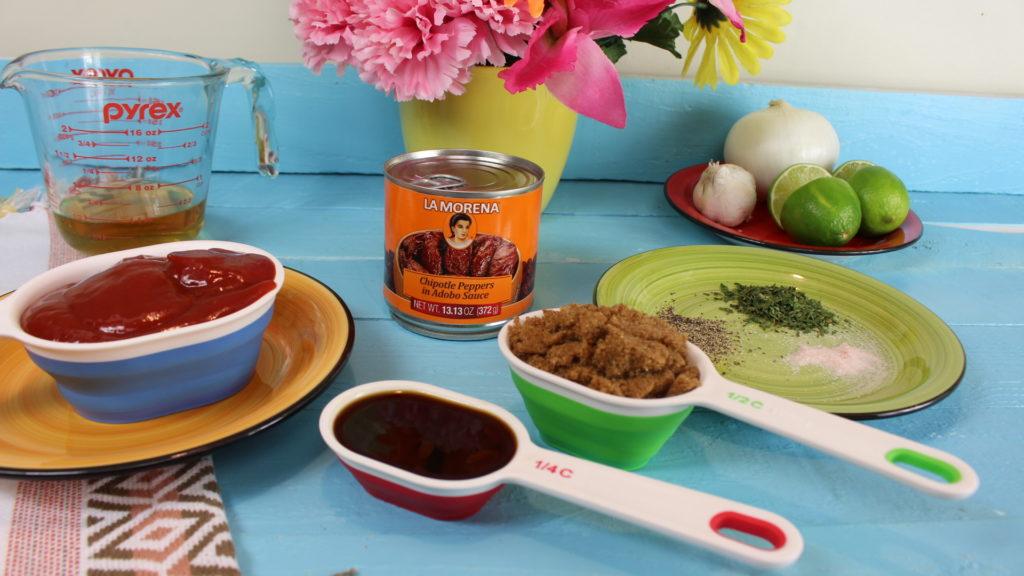 Salsa picante casera con Chiles Chipotle para BBQ casera