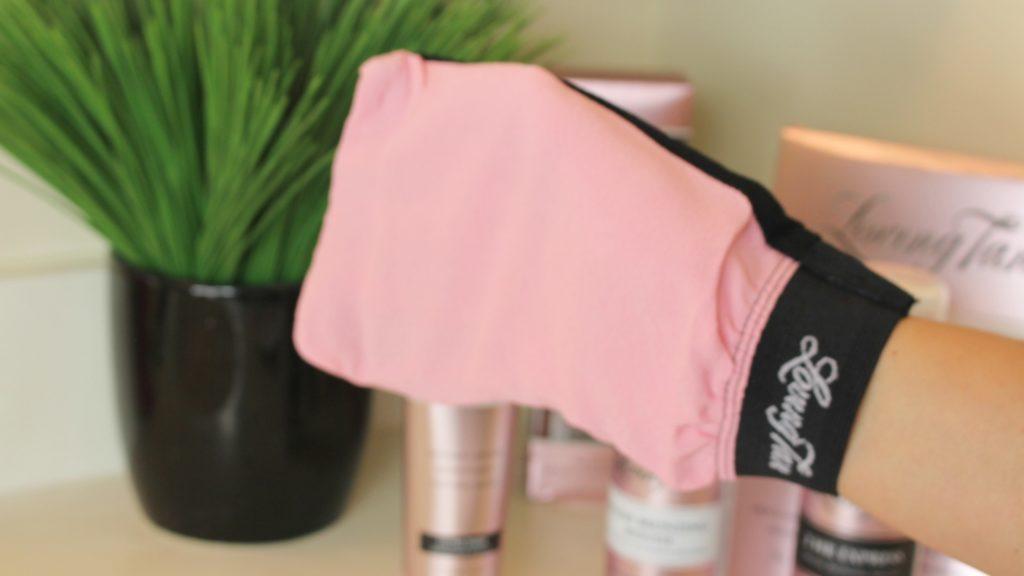 loving tan gloves pink