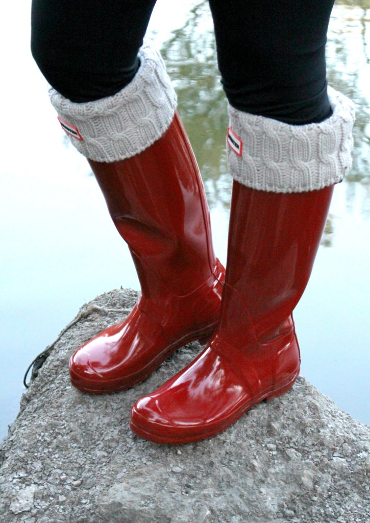 FASHION hunter boots tall red FALL TREND