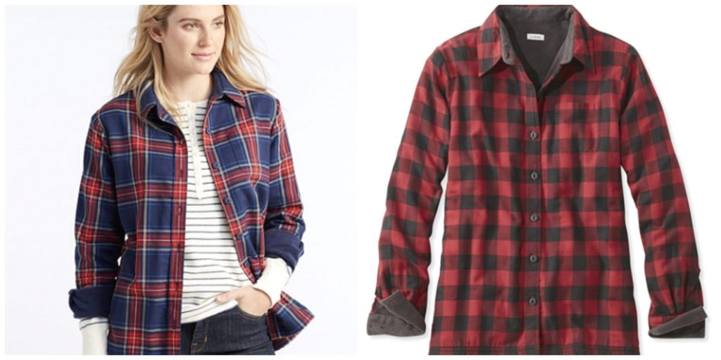 LL.Bean Fleece-Lined Flannel Shirt women