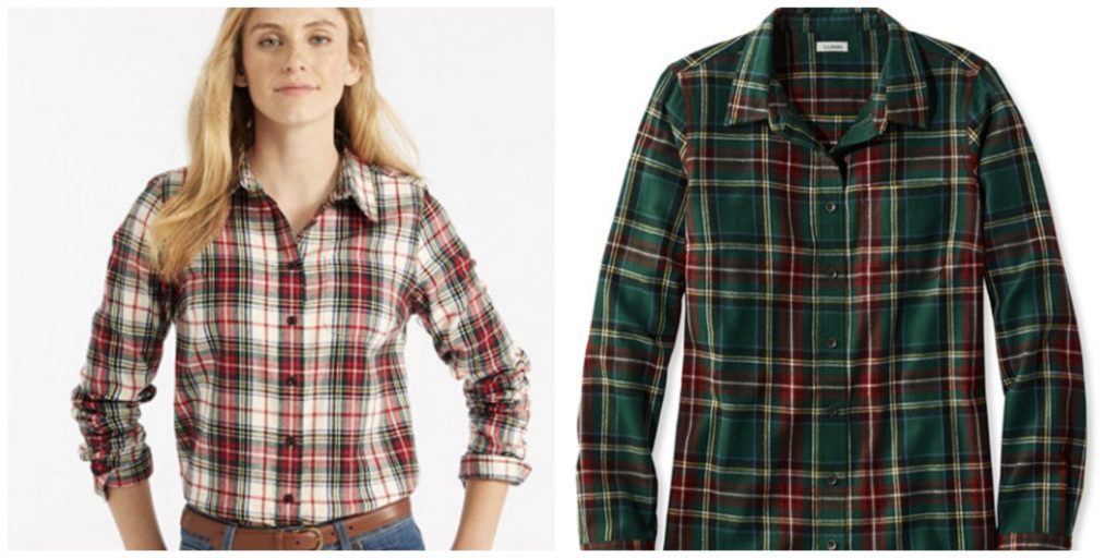 LL.Bean Scotch Plaid Shirt, Slightly Fitted