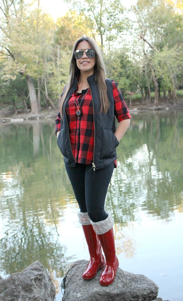 Moda en otoño Flannel botas hunter by alicia borchardt