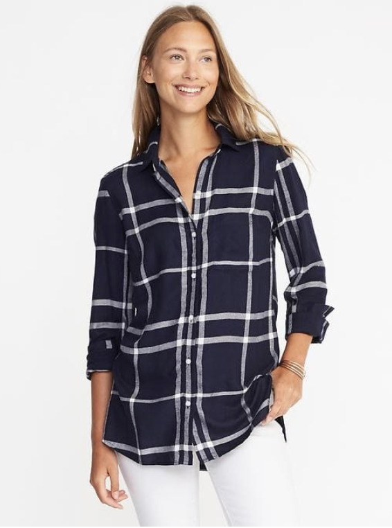 scotch plaid shirt soft women old navy