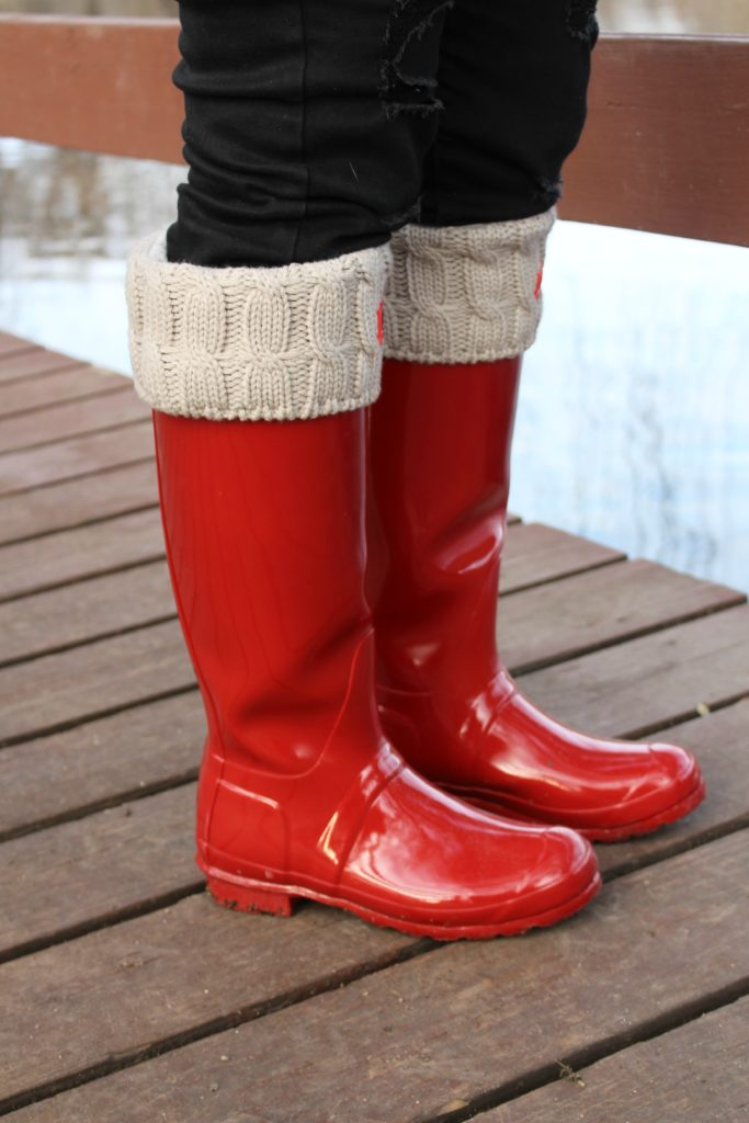 Hunter red tall gloss boots review by alicia borchardt