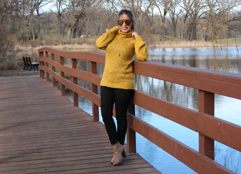 Sweater amarillo Mostaza siempre será tendencia otoño 2017 by alicia borchardt