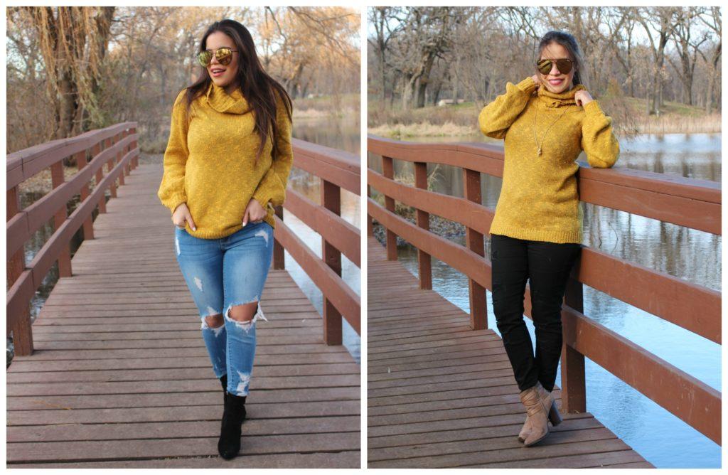 sweater mostaza 2 estilos para combinar by alicia borchardt