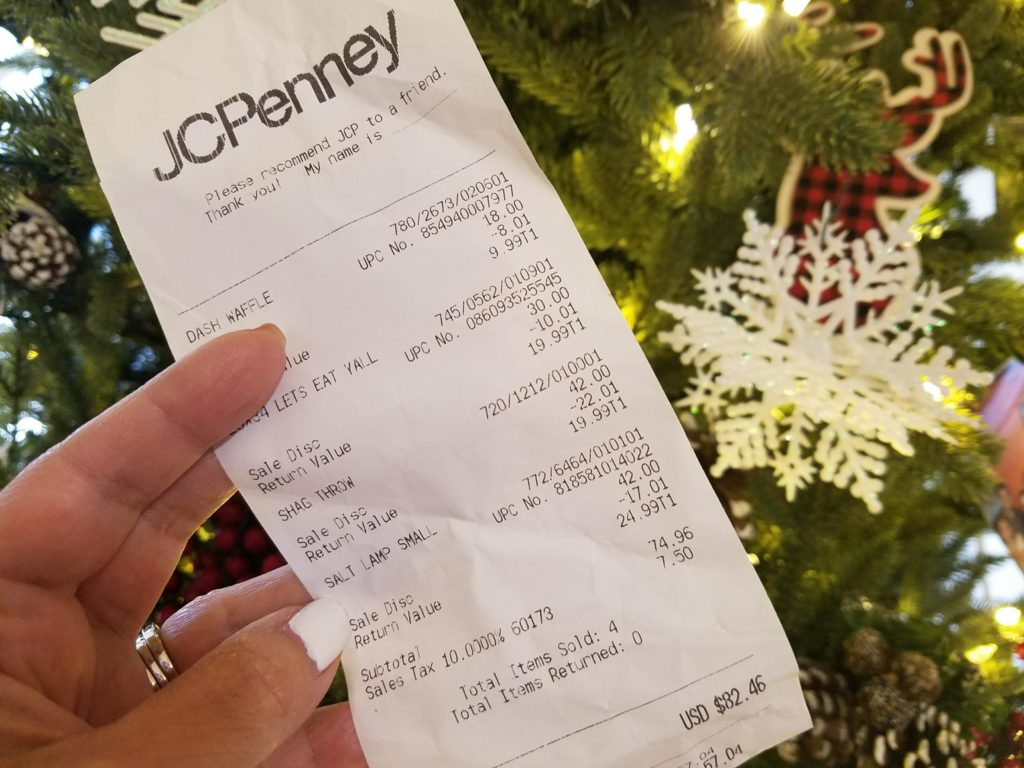 JCPenny christmas challenge ticket by alicia borchardt